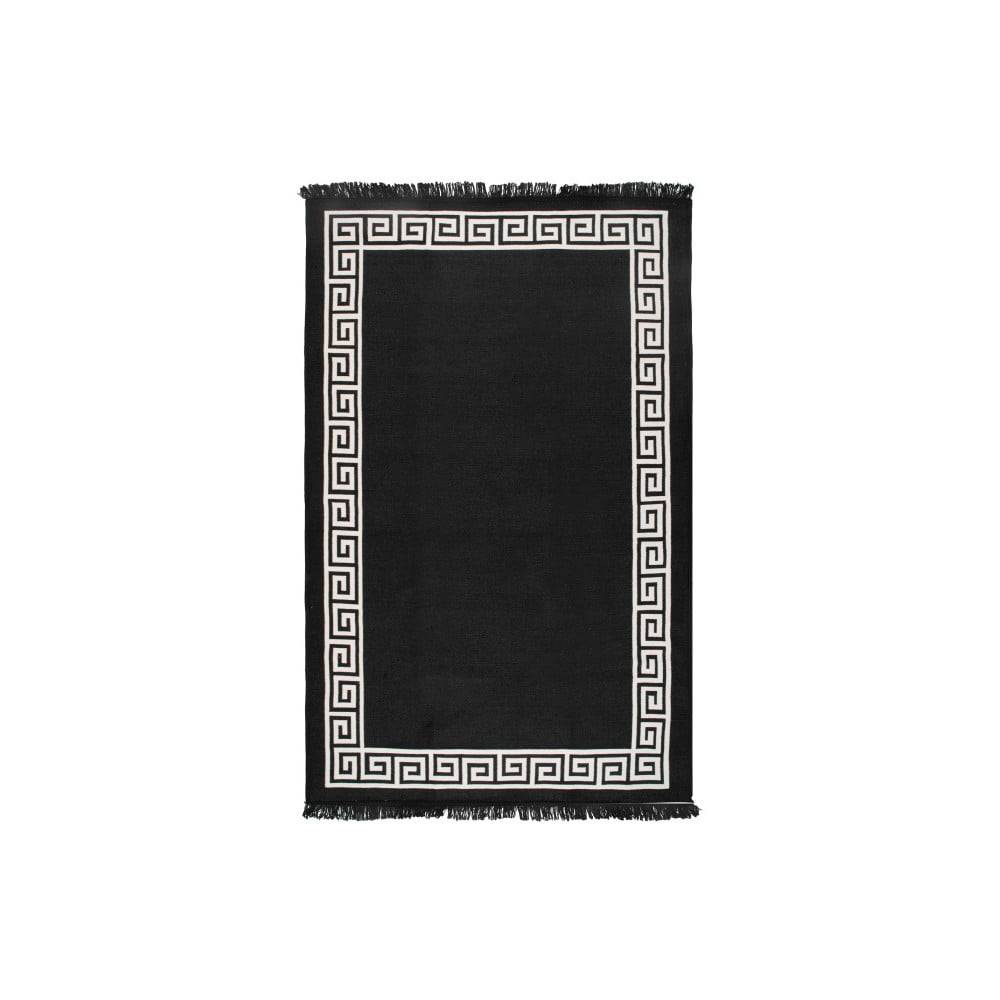 Cihan Bilisim Tekstil Béžovo-čierny obojstranný koberec Justed, 120×180 cm