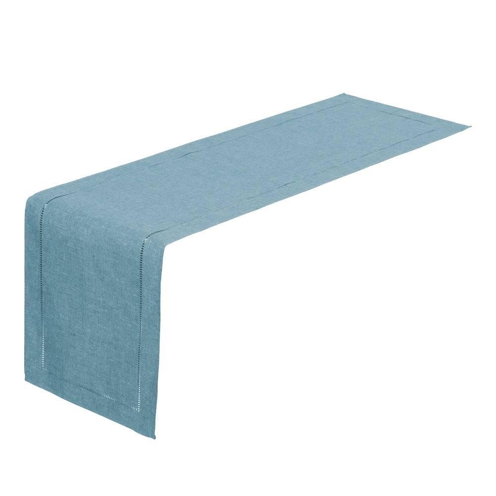 Unimasa Svetlomodrý behúň na stôl Unimasa, 150 x 41 cm
