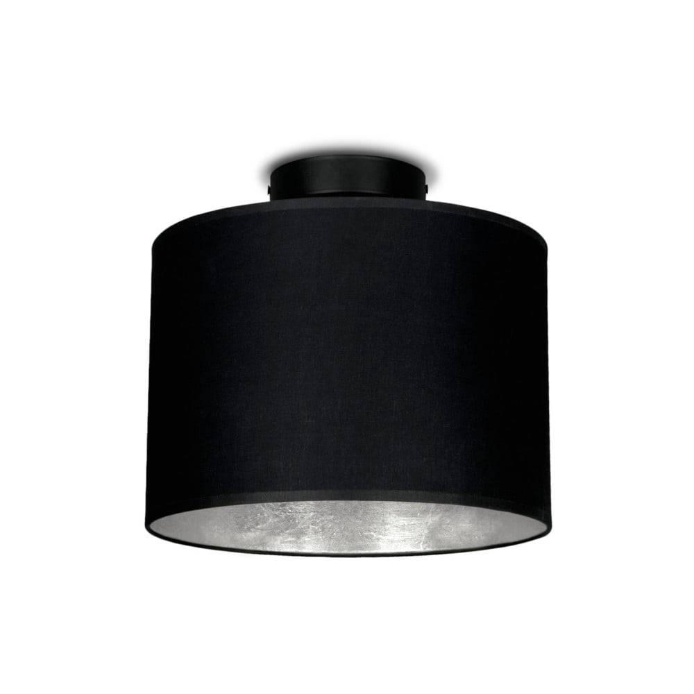 Sotto Luce Čierne stropné svietidlo s detailom v striebornej farbe Sotto Luce MIKA, Ø25 cm