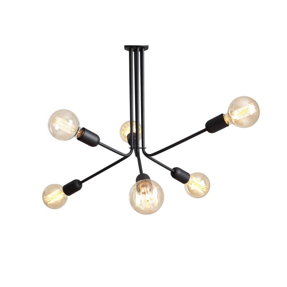 Custom Form Čierne závesné svietidlo na 6 žiaroviek Custom Form Vanwerk Duo