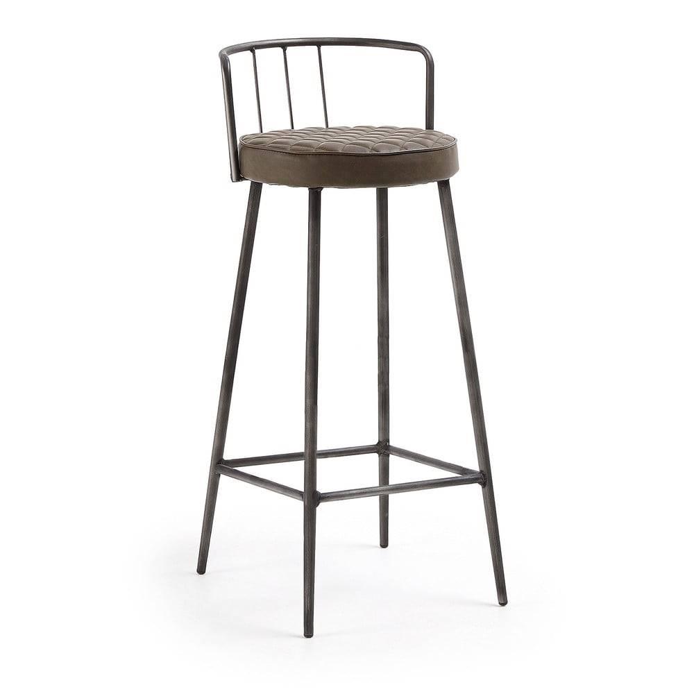 La Forma Hnedá barová stolička La Forma, výška 92 cm