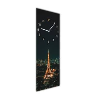 Nástenné hodiny Styler Glassclock Paris, 20×60 cm