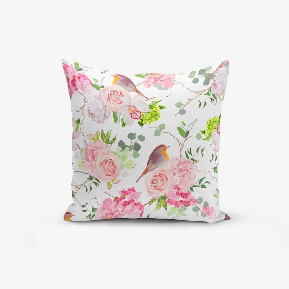 Minimalist Cushion Covers Obliečka na vankúš s prímesou bavlny Minimalist Cushion Covers Colorful Bird Duro, 45×45 cm