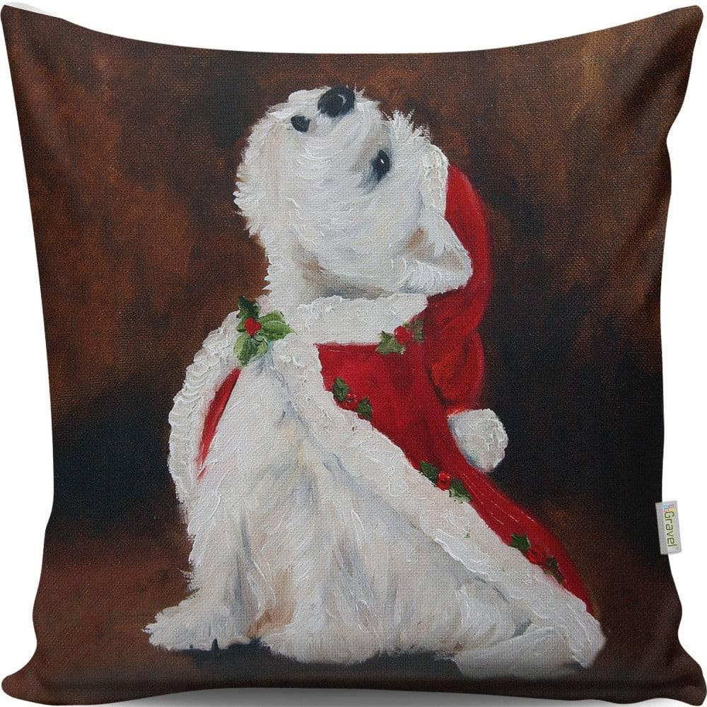 Gravel Vankúš Christmas Dog, 43 × 43 cm