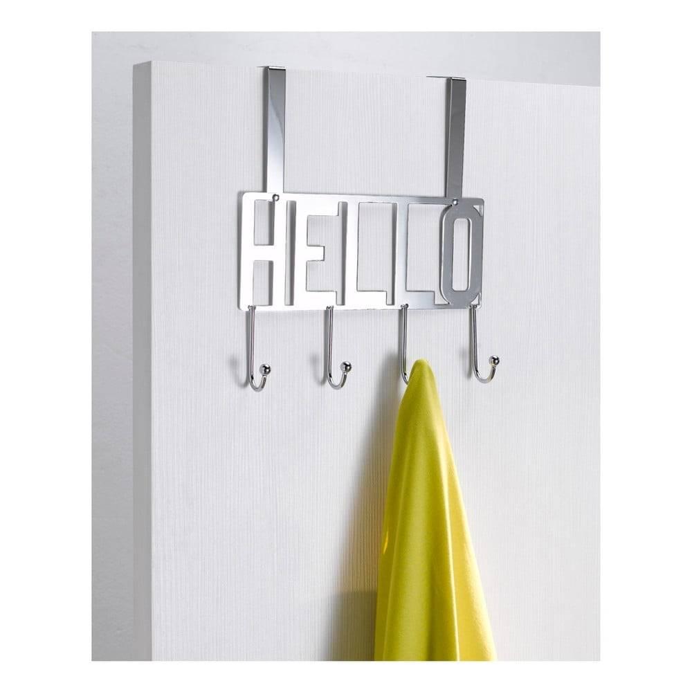Compactor Vešiak na dvere so 4 háčikmi Compactor Hello