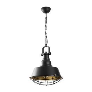 Čierne kovové závesné svietidlo Opviq lights Soultana