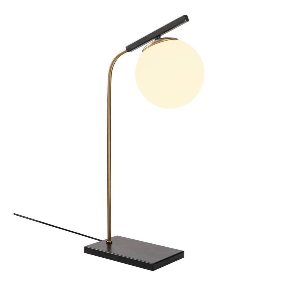 Opviq lights Čierna kovová stolová lampa Opviq lights Nona