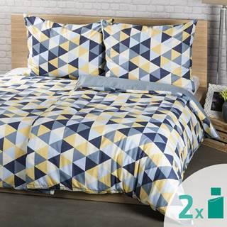 4Home 2 sady obliečok Triangel, 140 x 200 cm, 70 x 90 cm