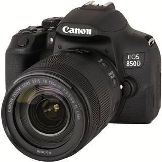 Digitálny fotoaparát Canon EOS 850D + 18-135 IS USM čierny