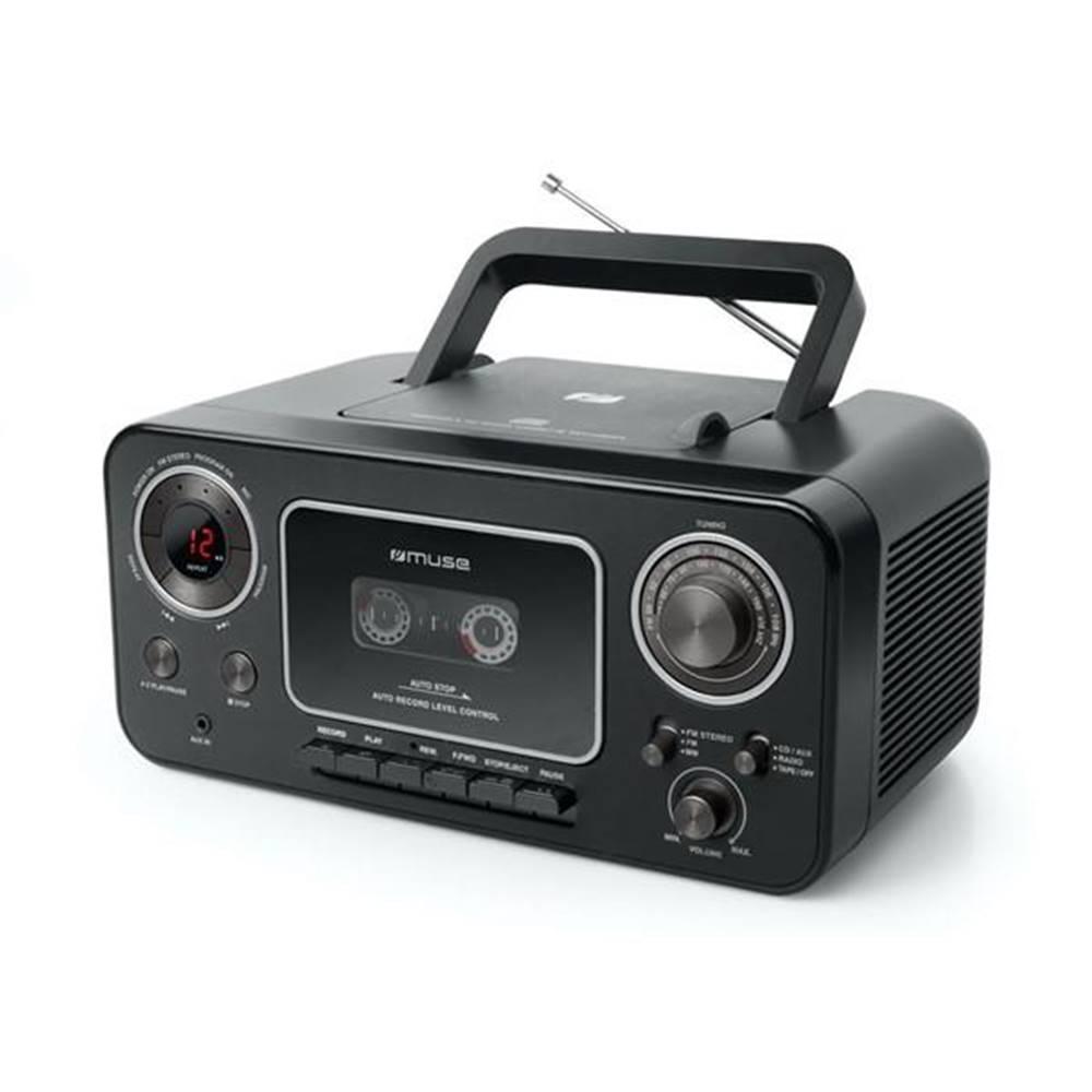 MUSE Rádiomagnetofón s CD MM-182RDC čierny