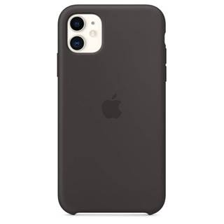 Kryt na mobil Apple Silicone Case pro iPhone 11 čierny