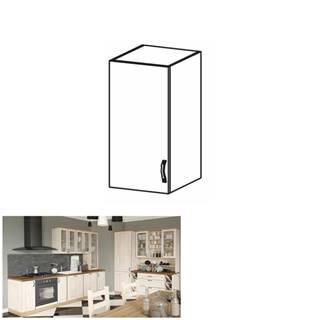Horná skrinka biela/sosna nordická ľavá ROYAL G40