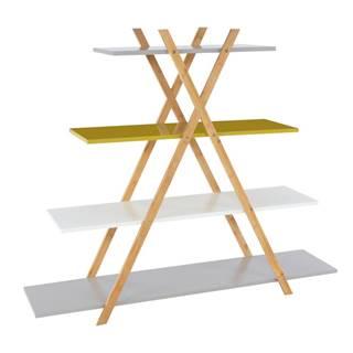 Regál viacfarebný/bambus JENSEN BBP-43