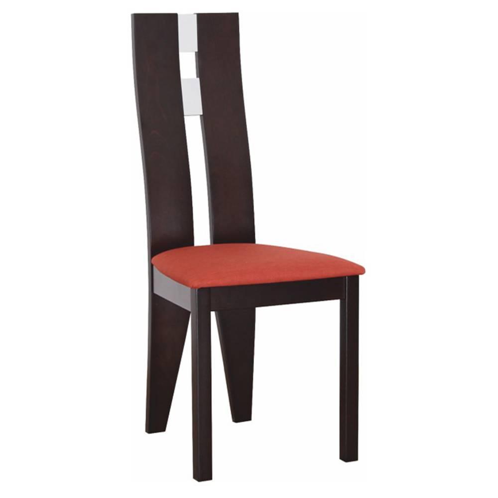 Tempo Kondela Drevená stolička wenge/terakota BONA poškodený tovar