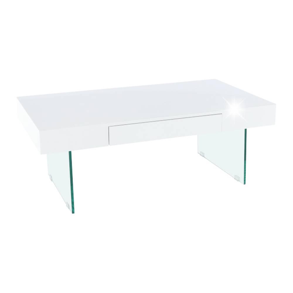 Tempo Kondela Konferenčný stolík biely extra vysoký lesk DAISY 2 NEW poškodený tovar