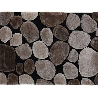 Koberec hnedá/čierna 70x210 PEBBLE TYP 2