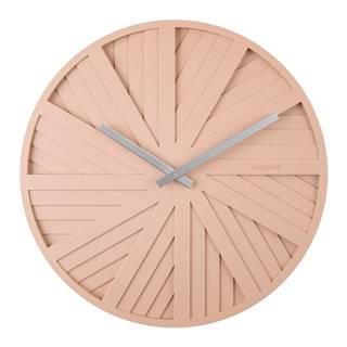 Pieskovohnedé nástenné hodiny Karlsson Slides, ø 40 cm