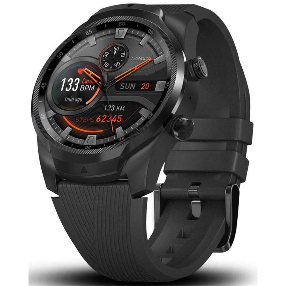 TicWatch Inteligentné hodinky Mobvoi TicWatch Pro 4G čierne