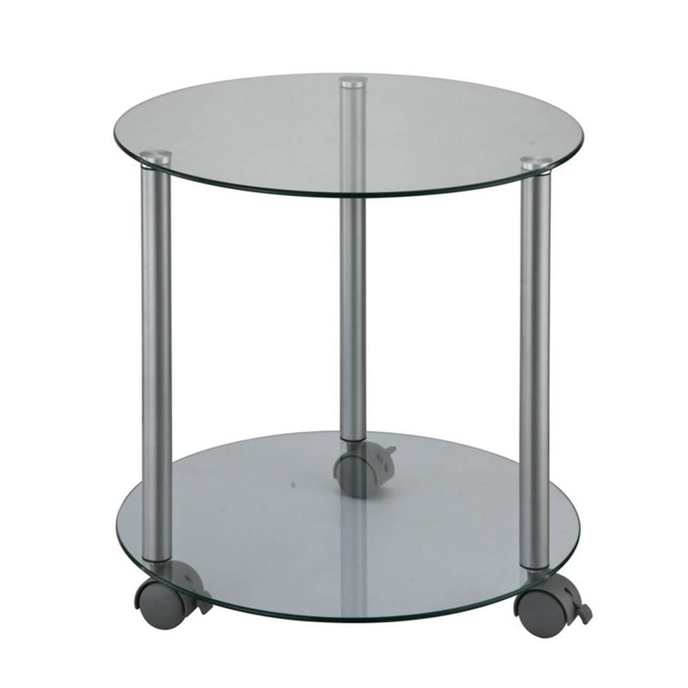 Tempo Kondela Pojazdný príručný stolík sivá TALAN
