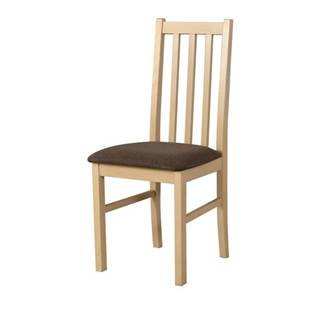 Jedálenská stolička BOLS 10 dub sonoma/hnedá