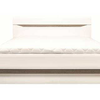 Posteľ LUCY 12 biela lesk, 180x200 cm