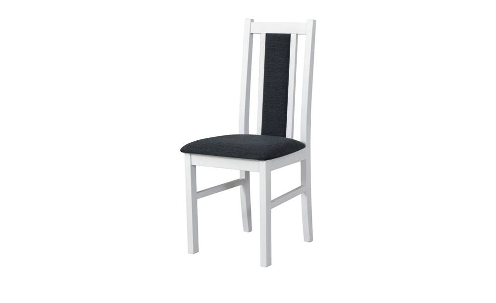 Sconto Jedálenská stolička BOLS 14 tmavosivá/biela