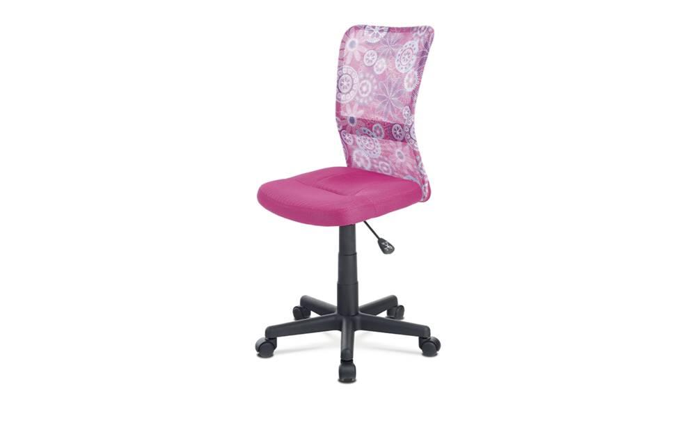 Sconto Kancelárska stolička BAMBI ružová s motívom