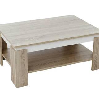 Konferenčný stolík TIM II dub sonoma/biela