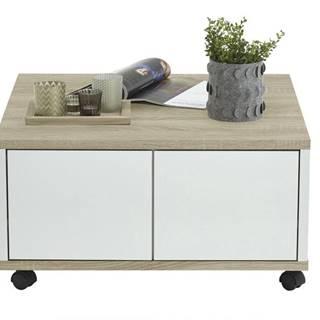 Konferenčný stolík TWIN dub sonoma/biela