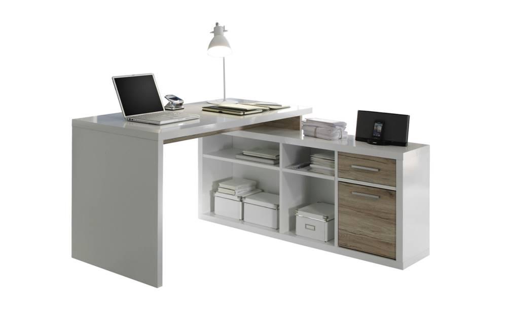 Sconto Rohový písací stôl TOKYO dub sanremo/biela