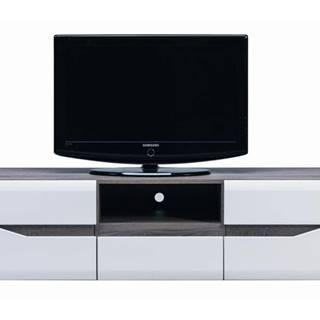 TV stolík LUCY LI 1 dub sonoma truffel/biely lesk