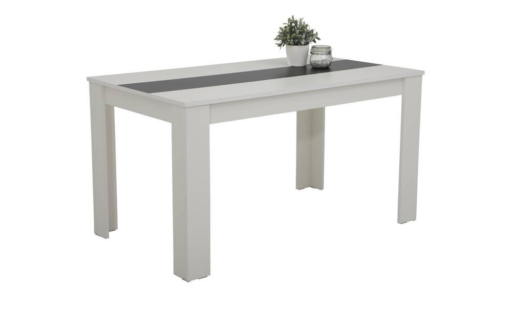 Sconto Jedálenský stôl MAREIKE T biela/čierna