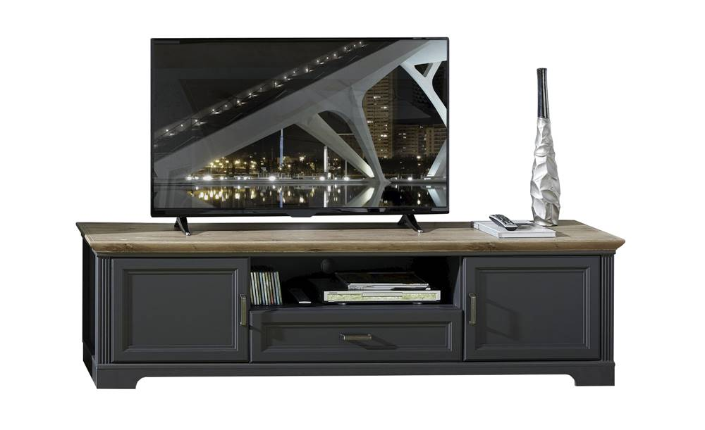 Sconto TV stolík JASMIN grafit/dub artisan