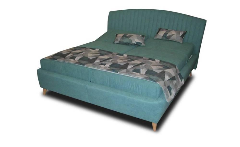 Sconto Polohovacia posteľ SHELLY tyrkysová, 180x200 cm